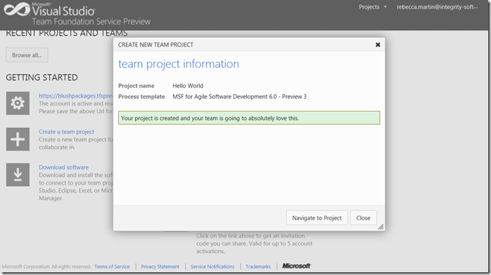 Project succesfully_created