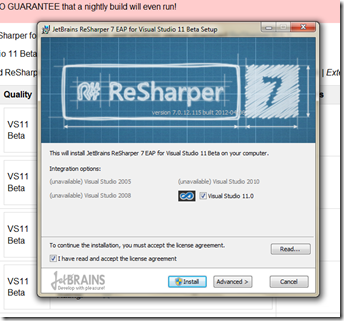 resharper7eap-nstall-screen